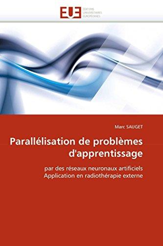 Parallelisation de Problemes DApprentissage: Marc SAUGET