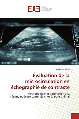 Évaluation de la microcirculation en échographie de contraste: Méthodologie et application à la ...