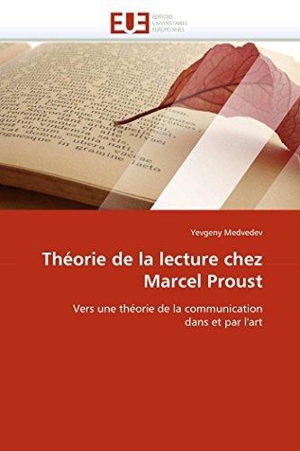 9786131528682: Th�orie de la lecture chez Marcel Proust