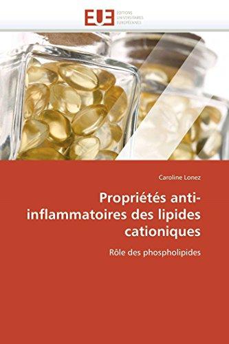 Propriétés anti-inflammatoires des lipides cationiques: Caroline Lonez