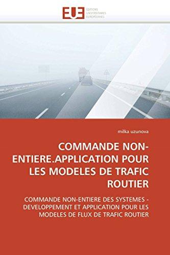Commande Non-Entiere.Application Pour Les Modeles de Trafic Routier: milka uzunova