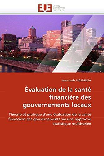 Evaluation de La Sante Financiere Des Gouvernements Locaux: Jean-Louis MBADINGA