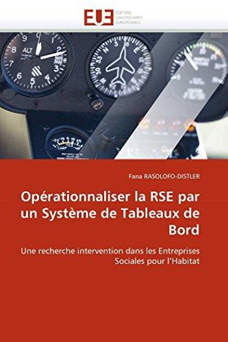 Operationnaliser La Rse Par Un Systeme de: Rasolofo-Distler-F