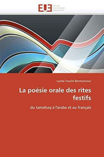 La Poesie Orale Des Rites Festifs: Lynda Touchi-Benmansour