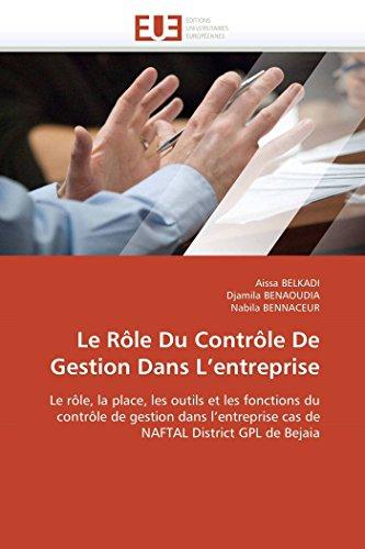 Le R le Du Contr le de Gestion Dans L Entreprise (Paperback) - Collectif