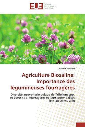 Agriculture Biosaline: Importance des légumineuses fourragères: Kawtar Bennani