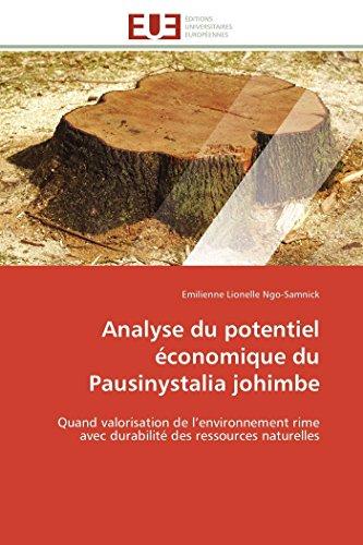 9786131589553: Analyse du potentiel économique du pausinystalia johimbe (OMN.UNIV.EUROP.)