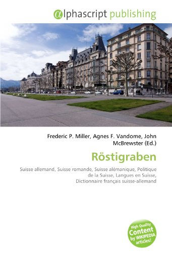 9786131836848: Röstigraben (French Edition)