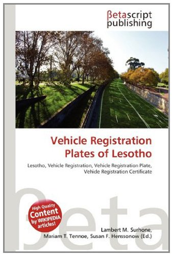 9786131902420: Vehicle Registration Plates of Lesotho