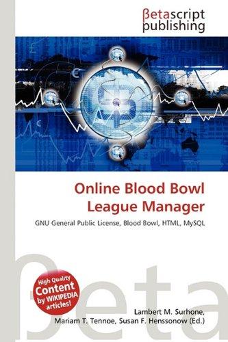 9786131944543: Online Blood Bowl League Manager