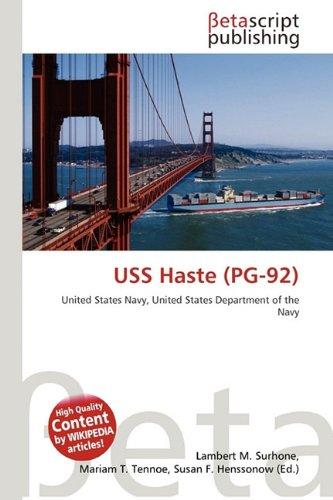 USS HASTE (PG-92): LAMBERT M. TIMPLEDON,