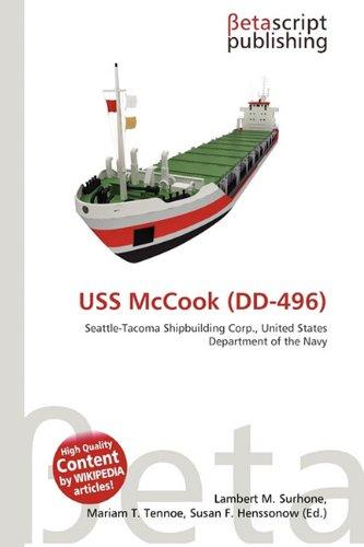 9786132223579: USS McCook (DD-496)