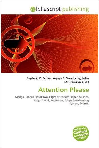 9786132576880: Attention Please: Manga, Chieko Hosokawa, Flight attendant, Japan Airlines, Shōjo Friend, Kodansha, Tokyo Broadcasting System, Drama.