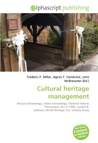 9786132645050 Cultural Heritage Management Rescue Archaeology Urban National Historic Preservation Act