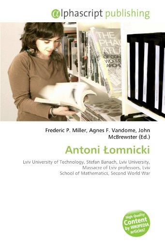 9786132740458: Antoni Lomnicki