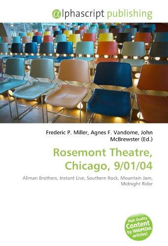 9786132879905: Rosemont Theatre, Chicago, 9/01/04