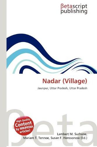 9786132990761: Nadar (Village)