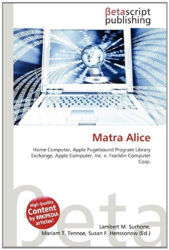 9786133106499: Matra Alice