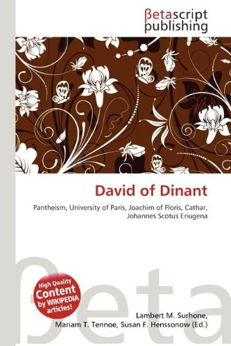 9786133117822: David of Dinant