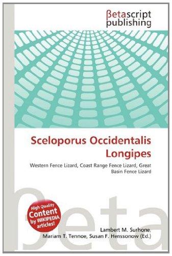 9786133139749: Sceloporus Occidentalis Longipes