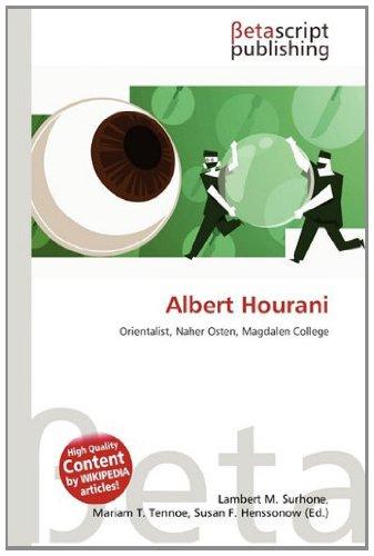 9786133174450: Albert Hourani