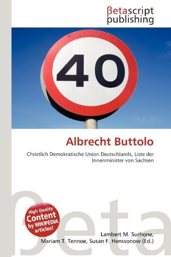 9786133335578: Albrecht Buttolo