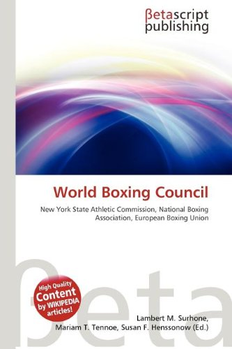 9786133504974: World Boxing Council