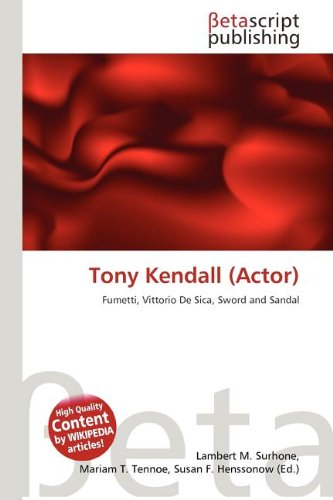 9786133636323: Tony Kendall (Actor)