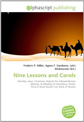 9786133703476: nine lessons and carols