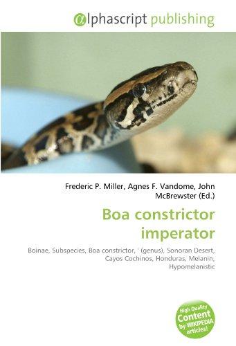 9786133883130: Boa constrictor imperator: Boinae, Subspecies, Boa constrictor, ' (genus), Sonoran Desert, Cayos Cochinos, Honduras, Melanin, Hypomelanistic