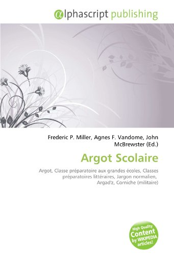 9786133980075: Argot Scolaire