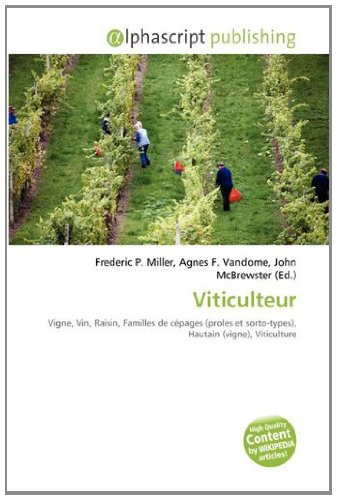 9786133986770: Viticulteur