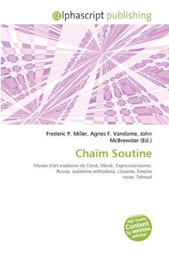 9786134002660: Chaïm Soutine (French Edition)