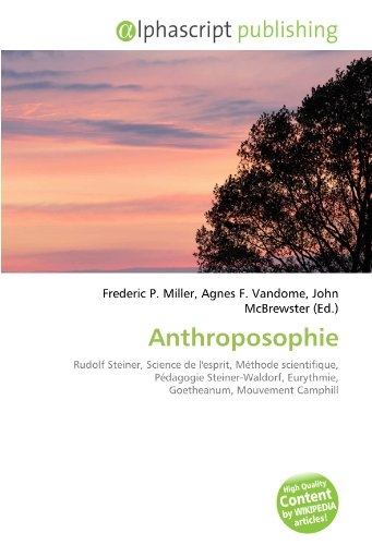 9786134085588: Anthroposophie (French Edition)