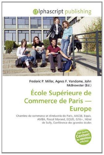 9786134191524: École Supérieure de Commerce de Paris - Europe (French Edition)