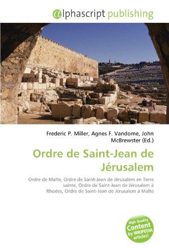 9786134262569: Ordre de Saint-Jean de Jérusalem (French Edition)