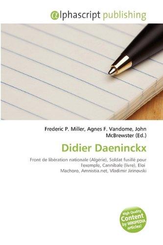 9786134310697: Didier Daeninckx