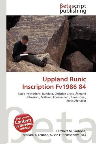 9786136136400: Uppland Runic Inscription Fv1986 84