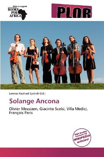 9786136404905: Solange Ancona