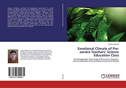 Emotional Climate of Pre-service Teachers' Science Education: Sonam Rinchen