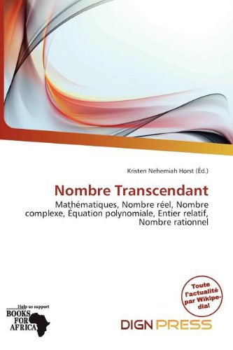 9786137496459: Nombre Transcendant (French Edition)