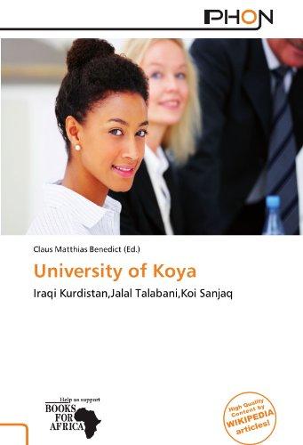 9786137819654: University of Koya