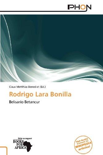 9786137921579: Rodrigo Lara Bonilla