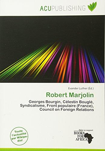 Robert Marjolin (Paperback)