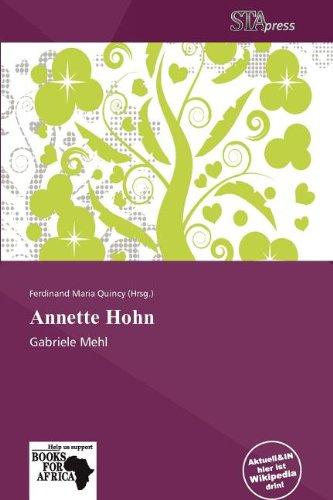 9786138608516: Annette Hohn