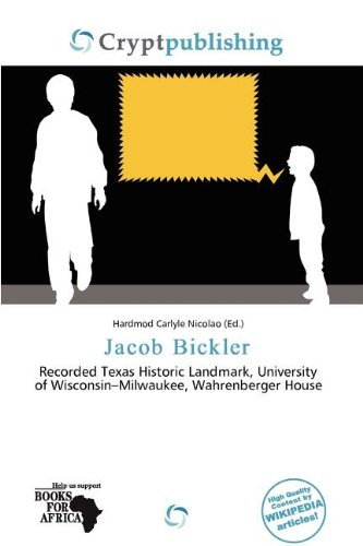 Jacob Bickler (Paperback)