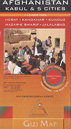 9786155010019: Afghanistan Geogr R Kabul 5 Cities Pakis (ROAD MAP - 1/2.000.000) (English and French Edition)