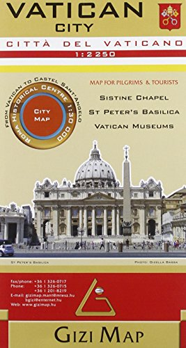 9786155010095: Vatican City 1:2,250 City Map Gizi