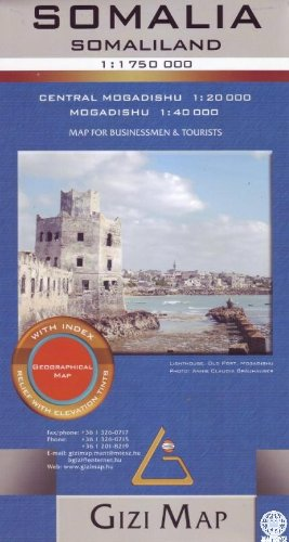 Somalia Geographical Map 1 : 1 750 000: Central Mogadishu 1 : 20 000 / Mogadishu 1 : 40 ...
