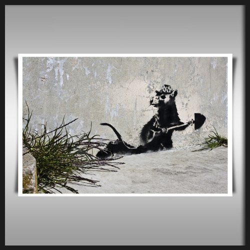 9786160022182: BANKSY RAT ART PRINT ON ARTISTA DI QUALITA 280GSM A3 CARTA SATINATA